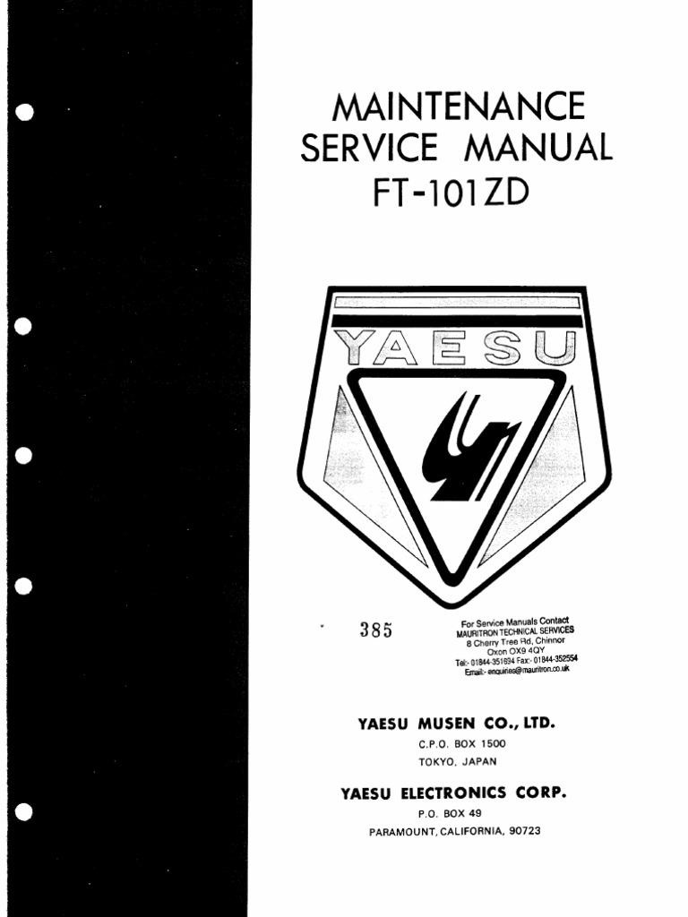 Yaesu Ft 101zd Service Manual Simple Swr Power Meter Circuit Using 1n60