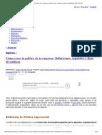 Cómo Crear La Política de Tu Empresa_ Definiciones, Requisitos y Tipos de Políticas _ PDCA Home