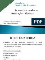 APRESENTAÇÃO PROPRIEDADES FÍSICAS E MECÂNICAS DA MADEIRA