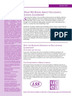 Summary Leithwood School Leadership