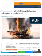 An Unrelated PetroDollar Crypto Has Just Quintupled in Market Cap Findercomau
