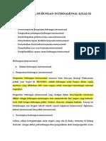 Materi Pkn 03 Hubungan Internasional Kelas Xi