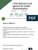 1.Drrm h Institutionalization