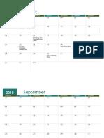 academic calendar  any year 1