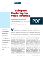 3D Subspace Clustering for Value Investing