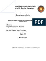 Monografía Sobre Las Principales Operaciones Unitarias Utilizadas en Procesos Físicos
