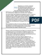 Zapatismo y Villismo (Fichas)