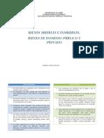 Bienes Muebles e Inmuebles, Bienes Del Dominio Publico y Privado CUADRO COMPARATIVO