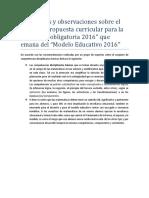 Propuesta Curricular - Área de Matemáticas - Supervisión D029 - Jorge Toriz Sánchez