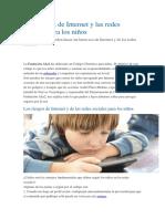 Los Riesgos de Internet y Las Redes Para Los Niños