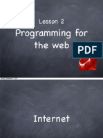 Ruby Course - Lesson 2 - Programming for the Web