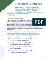 Fisica nucleare - Esercizi risolti interazioni particelle - Luci