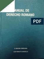 Manual de Derecho Romano (Luis Rodolfo Argüello)