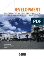 CITY DEVELOPMENT- Experiences in the Preservation of Ten World Heritage Sites