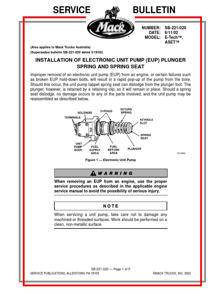 MAck Bomba Unitaria | Pump | Manufactured Goods