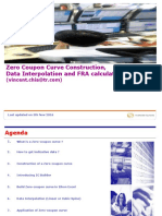 Zero Coupon Curve Construction, Data Interpolation and FRA Calculation