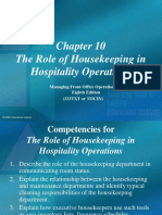 Chapt 10 Housekeeping