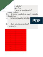 Ano Ang Balita