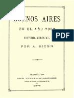 Sioen, Aquiles - Buenos Aires en El Año 2080
