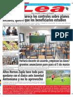 Periódico Lea Lunes 26 de Febrero Del 2018