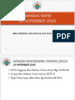 Paparan Serapan Biro Hot 21 Nop 2015 Bali
