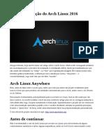 Guia – Instalação Do Arch Linux 2016