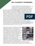 Unix Historia, Filosofía y Estándares.