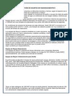 Descripción de Equipos de Radiodiagnóstico