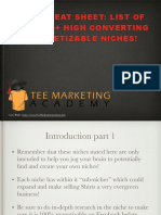 FREE List of T-Shirt Niches PDF.