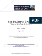The Death of BIg Law
