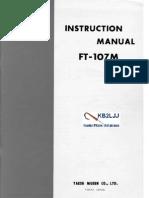 Yaesu FT-107M Instruction Manual