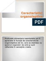 Caracteristici organoleptice