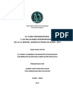 Clima Organizacional y Relaciones Interpersonales_huari 2013