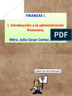 i. Introducción a La Administración Financiera