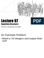 CSE115Lecture07RepetitionStructures_Part01