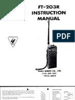 Yaesu FT-203R Instruction Manual