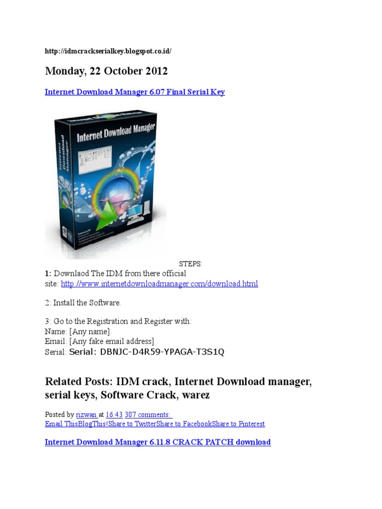 download idm serial number gratis