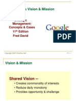 Management Strategic David Sm11 Chapter 2 Vission and Mission Analysis