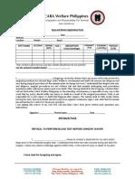 CARA Spay Neuter Application Form