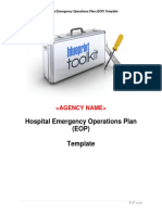 150480610 Hospital Emergency Operations Plan Template