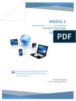 Modul 1 - Konsep Teknologi Aplikasi Web