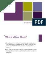 Desk Checks
