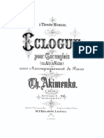 AKIMENKO Eclogue Piano and Cor Anglais