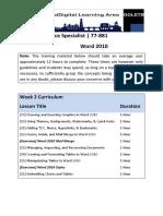 microsoft office specialist 77-881 week 2