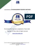Management Research Methods essays sample - Tutors India