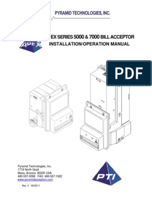 Apex-Series-5000-7000-bill-acceptor-Manual pdf | Electrical