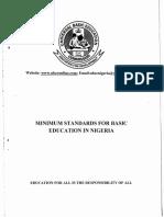 Minimum Standards for Basic Education In Nigeria