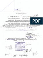 Treasurer's Affidavit - Dataland Sales