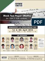 Class 10 Mathematics Board Paper ICSE 2018-19