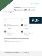 Workshop on Algorithms and Models for the Web Graph